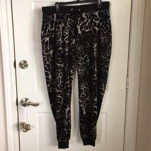 Michael kors animal print velour sweat pants
